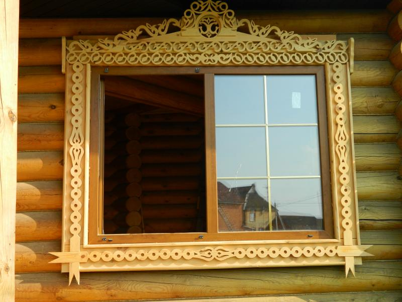 Процесс изготовления деревянных наличников.