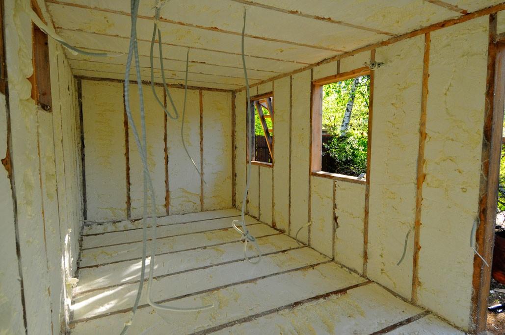 Внутренняя отделка деревянной бытовки